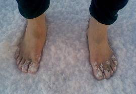 """Being barefoot in a dream is a way of saying you have """"cold feet"""" regarding the subject matter of the dream."""