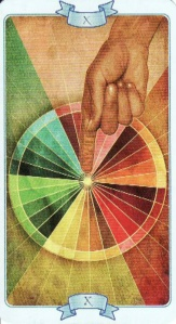 "The Wheel of Life from the ""Law of Attraction Tarot."""