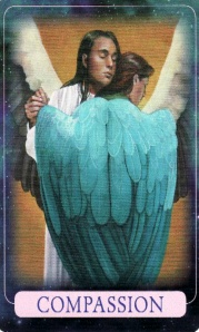 The Compassion card, from the Indigo Angel Oracle.