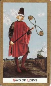 2 of Coins-Golden Tarot