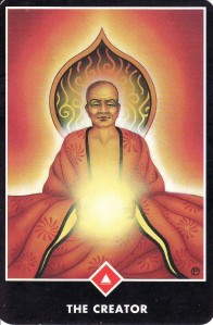 The King of Fire (aka the Creator), from the Osho Zen Tarot.