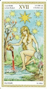 The Star card, from the Lo Scarabeo Tarot.