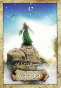 Wide Open, from the Enchanted Map Oracle Cards.