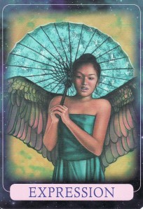 Expression, from the Indigo Angel Oracle Cards.