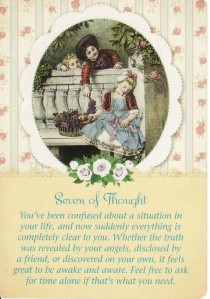 The 7 of Thought, from the Guardian Angel Tarot.