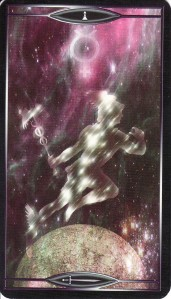 The Page of Swords, from the Quantum Tarot.