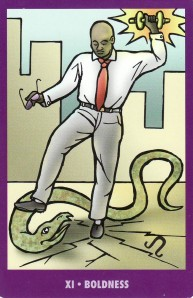Boldness, from the Bright Idea Deck (known as the Strength card in traditional Tarot).