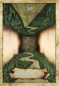 Rock Bottom, from the Enchanted Map Oracle Cards by Colette Baron-Reid.
