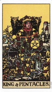 King of Pentacles-Original Rider Waite Tarot
