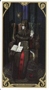 The High Priestess, from the Night Sun Tarot by Fabio Listrani.