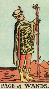 Page of Wands-Original Rider Waite Tarot
