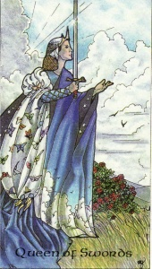 Queen of Swords-Robin Wood Tarot