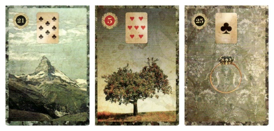 The Mountain, The Tree, and The Ring, from the Malpertuis Lenormand.