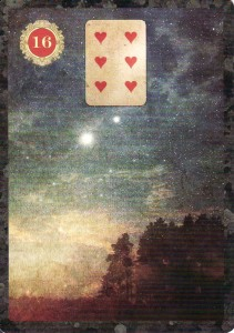 The Stars, from the Malpertuis Lenormand, which was the Advice card for not one--but two--individual triplets.