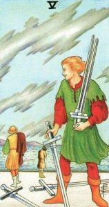 5 of Swords-Universal Waite Tarot