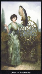 9 of Pentacles-Steampunk Tarot