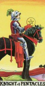 Knight of Pentacles-Universal Waite Tarot
