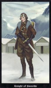 Knight of Swords-Steampunk Tarot