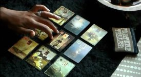 Doing Will Horton's Lenormand Portrait Spread prompted me to extract cards to produce a bottom line reading, called the