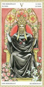 The Hierophant-Lo Scarabeo Tarot