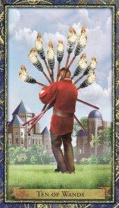 10 of Wands-Wizards Tarot
