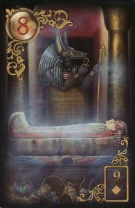 The Coffin, from the Gilded Reverie Lenormand, by Ciro Marchetti.