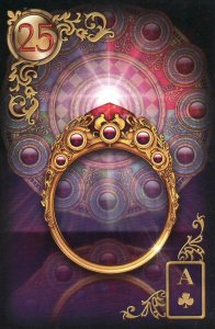 The Ring, also from the Gilded Reverie Lenormand.
