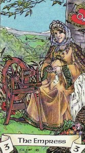 The Empress, from the Robin Wood Tarot by Robin Wood.