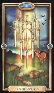 10 of Swords-Gilded Tarot