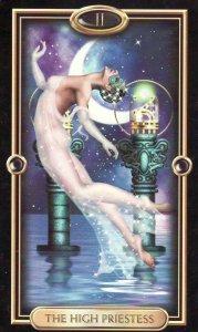 High Priestess-Gilded Tarot