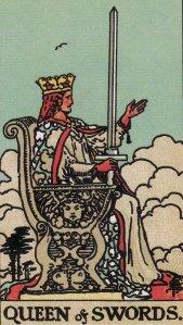 Queen of Swords-Original Rider Waite