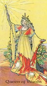Queen of Wands, from the Robin Wood by Robin Wood.