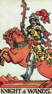 knight of wands-original rider waite