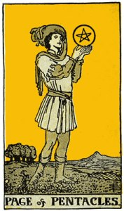 page of pentacles-gutenberg