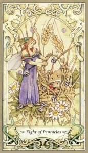 8 of pentacles-mystic faerie