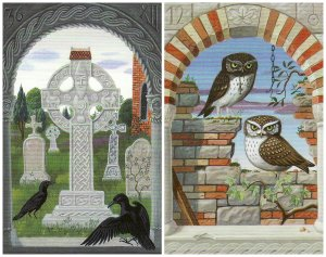 cross owls-mystical lenormand