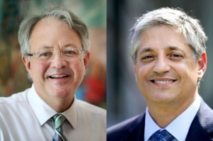 On an intuitive impulse, I turned to the Lenormand to see who would win the mayoral election between John Tecklenburg (left) and Leon Stavrinakis.  Photo credit: Post & Courier.