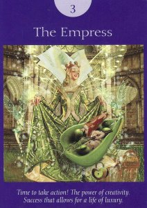 The Empress, from the Fairy Tarot Cards.