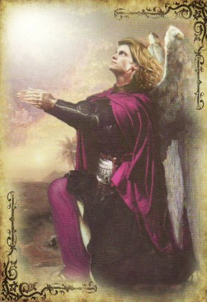 Dreaming of a deck: The card backs to the Archangel Michael Oracle Cards by Doreen Virtue and published by Hay House. Artwork by Howard David Johnson.