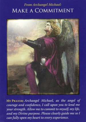 """""""Make a Commitment,"""" from the Archangel Michael Oracle Cards by Doreen Virtue. Published by Hay House. Artwork by Howard David Johnson."""