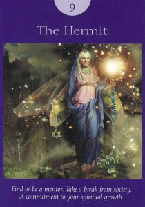the hermit-fairy tarot