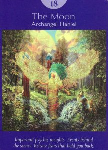 the moon-angel tarot