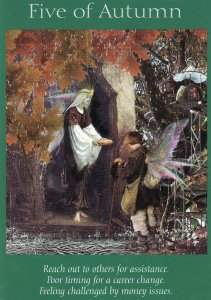 5 of autumn-fairy tarot