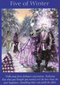 5 of winter-fairy tarot