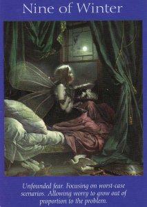 9 of winter-fairy tarot