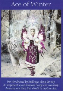 ace of winter-fairy tarot