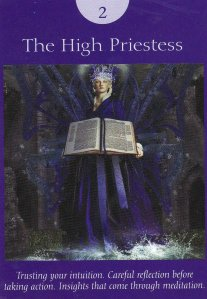 the high priestess-fairy tarot