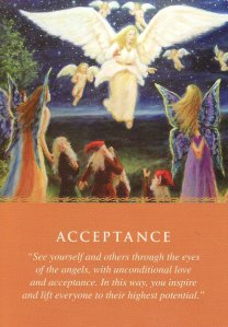 Acceptance, from the Daily Guidance from Your Angels Oracle Cards. Artwork is by Marcel LorAnge.