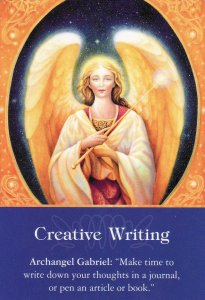 Creative Writing, from the Archangel Oracle Cards.