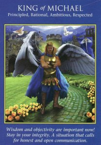 King of Michael opened the door to an intuitive prompt, and put me on a new path to explore.